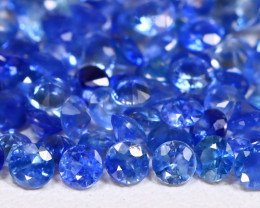 4.04Ct Calibrate 2.2mm Round Natural Blue Color Sapphire Lot B1010