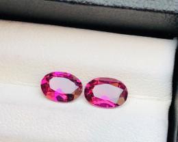 Introducing Rarest Pair 1.90 ct Pinkish Garnet