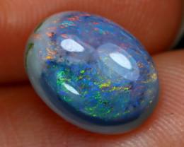 2.03Ct Australian Lightning Ridge Dark Black Opal A1102