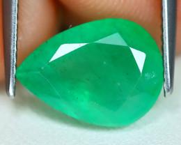 Zambian Emerald 2.92Ct Pear Cut Natural Green Color Emerald B1103