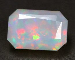 3.60Ct Broadflash Flash Color Play Faceted Welo Milky White Opal C1010