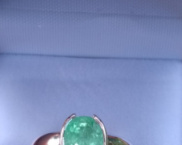 Untreated Colombian Emerald  Ring 2.00 cts from Muzo