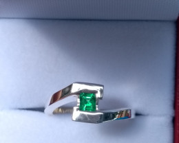 Colombian Emerald Ring  0.25 cts from Muzo