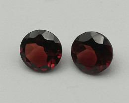 Rhodolite pair, 1.21ct, brilliant shape, use them for some nice jewelry!