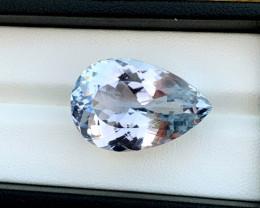39.55 Carats Natural Aqua Color Kunzite Gemstone