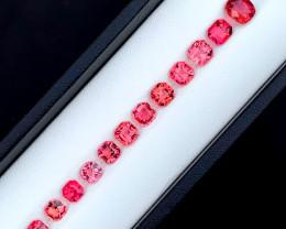 9.90 Carats Natural Asscher Cut Tourmaline Gemstones