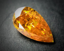 0.14 Fancy Vivid Yellowish Orange SI2