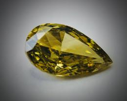 0.13 Fancy Vivid Greenish Yellow IF