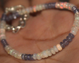12 Crt Natural Ethiopian Welo Opal & Tanzanite Bracelet 674