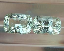 3.20cts  Green Prasiolite,  Precision Cut