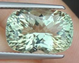 7.85cts  Green Prasiolite,  Precision Cut