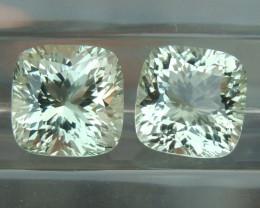 8.94cts  Green Prasiolite,  Precision Cut