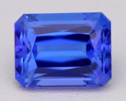 4.73Ct Natural Vivid Blue Tanzanite IF Flawless Octagon Master Cut B1207