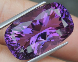 22.67cts, Amethyst,  Top Cut, Clean, Untreated,