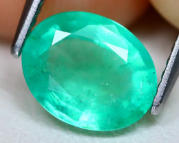 Colombian Emerald 1.62Ct Oval Cut Natural Green Color Emerald C1202