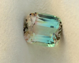 18.50 Carat Natural Cushion Cut Bi Color  Tourmaline Gemstone