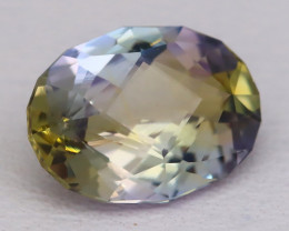 Unheated Tanzanite 1.85Ct VVS Master Cut Natural BiColor Tanzanite A1204