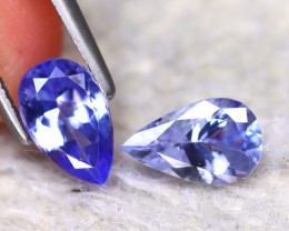 Tanzanite 1.45Ct 2Pcs Natural VVS Purplish Blue Tanzanite  D1615/D3