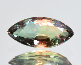 1.25 Cts NATURAL ALEXANDRITE GREEN TO ORANGISH RED MARQUISE
