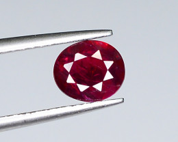 0.79 ct Gemological Certified Natural Red Ruby From Mozambique Oval Shape