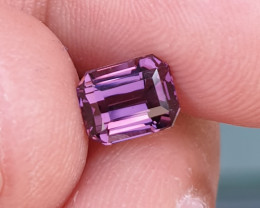 UNHEATED 1.74 CTS NATURAL GORGEOUS VVS VS PURPLE SPINEL TANZANIA