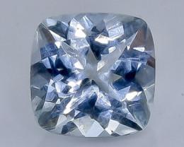 2.35 Crt Natural  Aquamarine Faceted Gemstone.( AB 100)