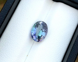 3.55 ct Natural Violet Blue Tanzanite Oval Cut