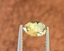 0.95ct Natural Unheated yellow sapphire