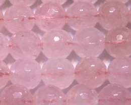 405  CTS  ROSE QUARTZ ROUND FACETED BEADS NP-2937