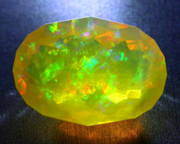 Welo Opal 9.21Ct Natural Ethiopian Faceted Phantom Ghost Opal A1311