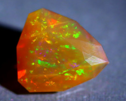 Welo Opal 3.31Ct Natural Flash Color Play Faceted Welo Opal A1312