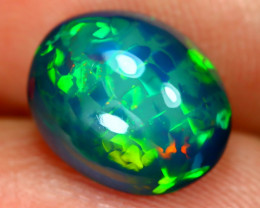 Opal 3.01Ct Natural Bright Color Play Welo Black Smoked Opal C1312