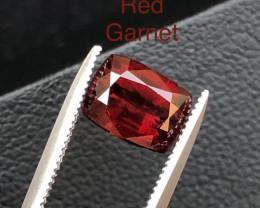 Top Grade 2.35 ct Fancy Cut Reddish Himalayan Garnet Ring Size