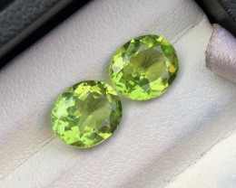 Deer Color 3.50 ct lovely Peridot Pair Ring Size
