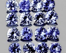 2.40 mm Round 16 pcs 1.02cts Ceylon Blue Sapphire [VVS]