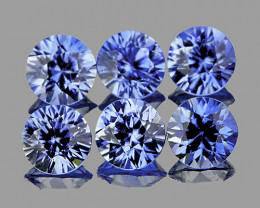 3.20 mm Round 6 pcs 0.88cts Ceylon Blue Sapphire [VVS]