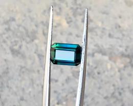 1.90 Ct Natural Dark Bi Color Transparent Tourmaline Gemstone