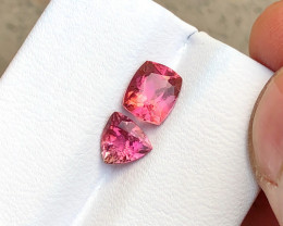 1.90 Ct Natural Pinkish Transparent Tourmaline Gemstones Parcels