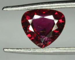 1.10 ct Natural Rhodolite Garnet Trillion Shape From Mozambique