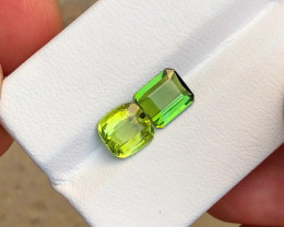 2.20 Ct Natural Green & Yellow Transparent Tourmaline Gemstones Parcel