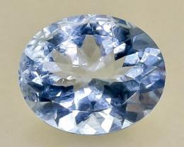 3.84 Crt  Aquamarine Faceted Gemstone (Rk-75)