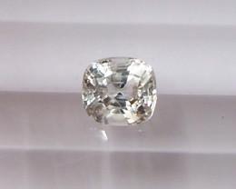 1.17ct unheated white sapphire