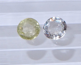 1.06ct Unheated White and Yellow sapphire