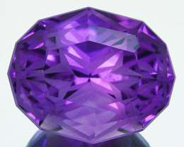 ~CUSTOM CUT~5.38 Cts Natural Purple Amethyst Fancy Oval Bolivia