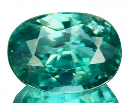 3.10 Cts Natural Sparkling Greenish Blue Zircon Oval Cut Cambodia