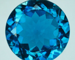6.12 Cts Beautiful Natural London Blue Topaz 11mm Round Cut Brazil