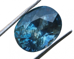 5.35 CTs Natural & Unheated~ Ink Blue Aquamarine Gemstone