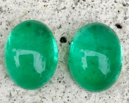 4.370 CT EMERALD COLOMBIA 100% NATURAL UNHEATED AIG CERTIFIED PAIR