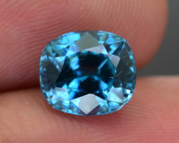 Blue Zircon 3.81 ct Bright AAA Brilliance Cambodia SKU.16