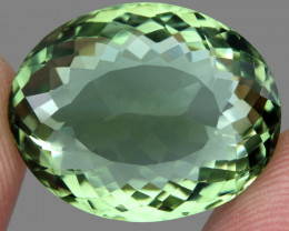 Clean 23.81  ct Natural Earth Mined Top Rich Green  Prasiolite